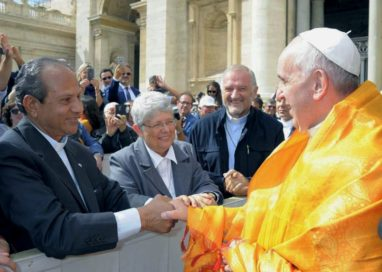 Montfortian Superiors General meeting with Pope Francis